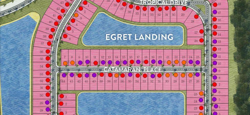 Plano del sitio de aterrizaje Garza en la reserva de Nápoles