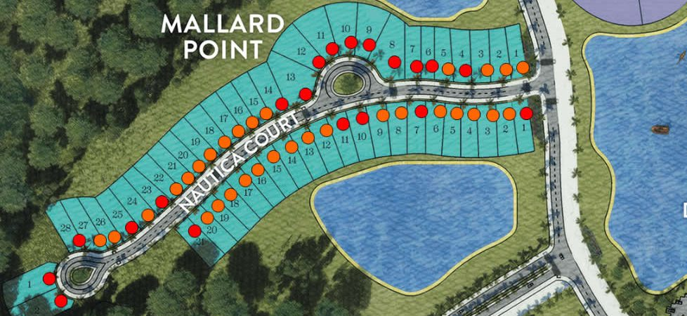 Site Plan of Mallard Point at Naples Reserve