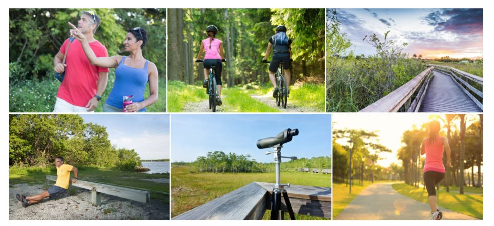 Walking and biking trails at Naples Reserve in Naples, FL