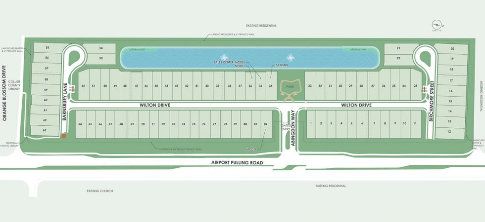 Site plan of Avery square in Naples