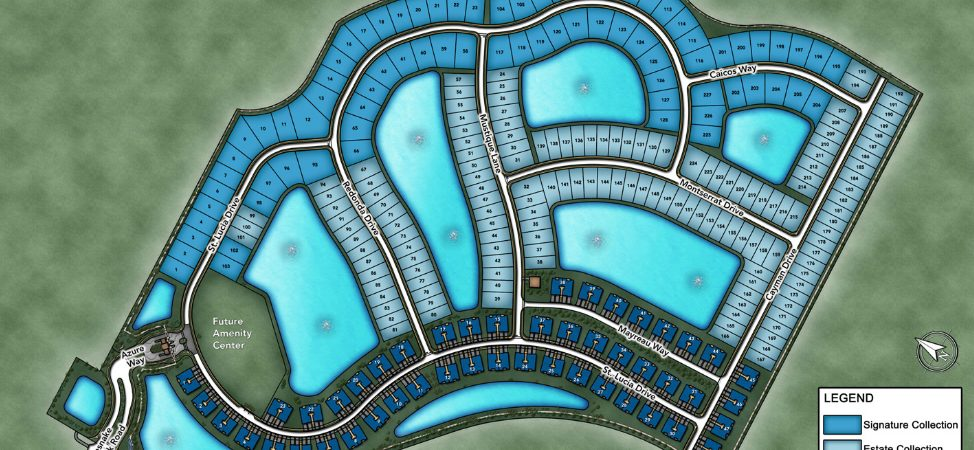 Site Plan for Azure at Hacienda Lakes in Naples