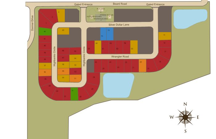Site Plan of Roper Reserve in Winter Garden