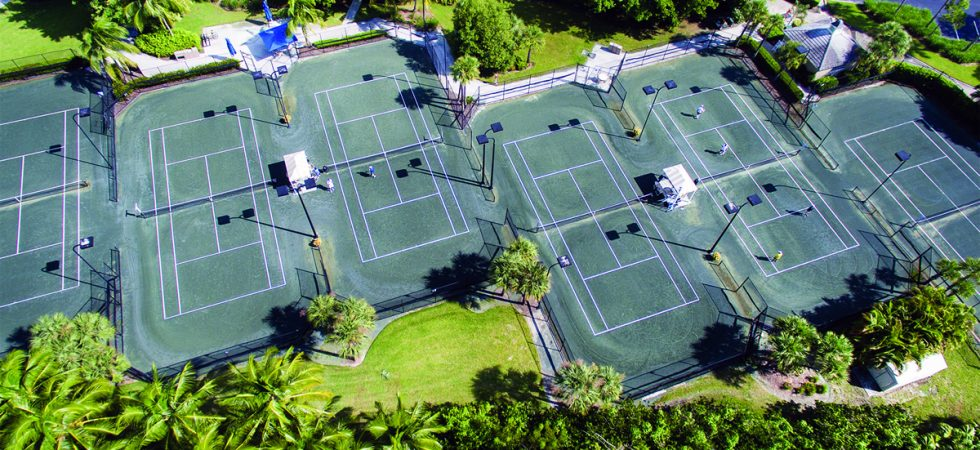 Tennis courts at Fiddlers Creek in Naples