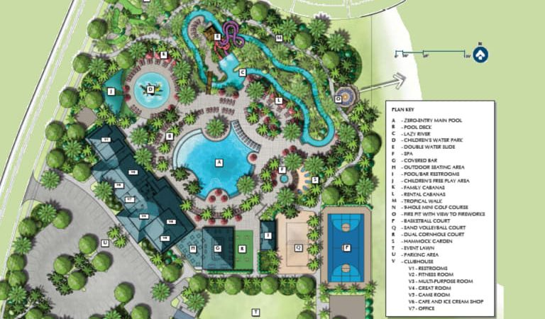 Windsor Island Resort clubhouse and amenities plan