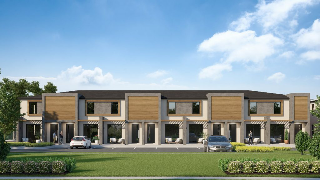 The Hub at Westside townhomes